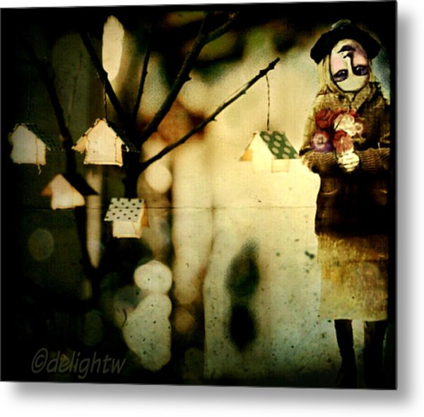 Metal Print featuring the digital art Some Days Are Like That by Delight Worthyn