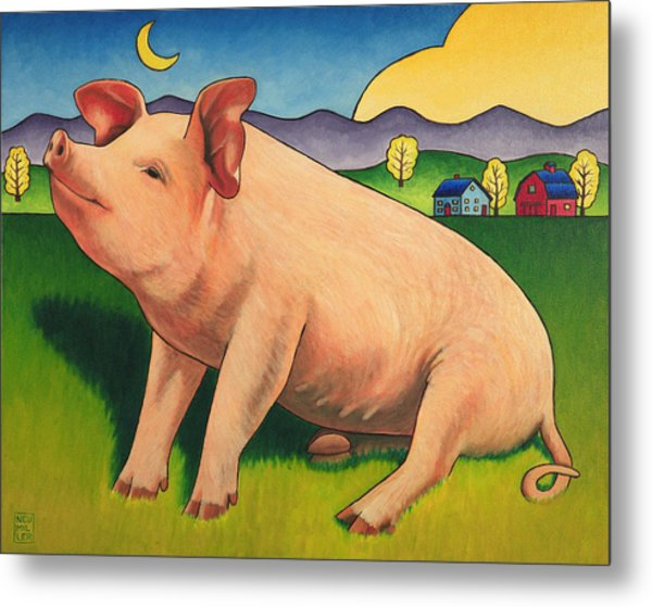 Some Pig Metal Print by Stacey Neumiller