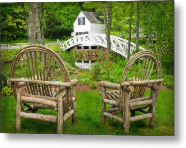 Somesville Maine - Arched Bridge Metal Print