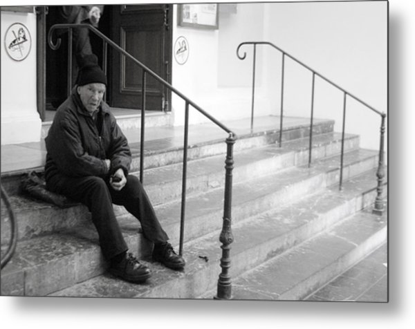 Sometimes I Sit The Other Side Metal Print by Jez C Self