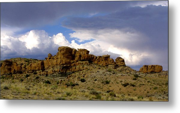 Somewhere Out West Metal Print by Ralph  Perdomo