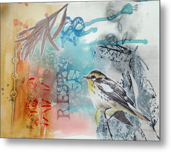 Metal Print featuring the mixed media Song Of Life  by Rose Legge