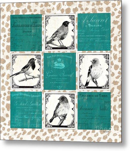 Songbird Cheetah Patch Metal Print