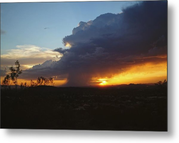 Sonoran Desert Thunderstorm Metal Print