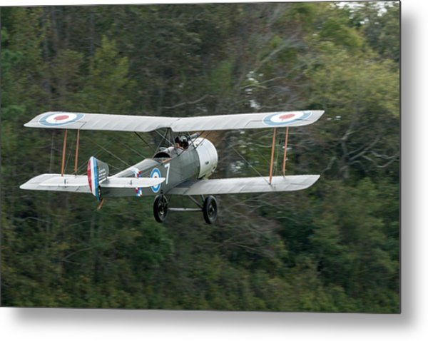 Sopwith 1 1/2 Stutter Takes To The Sky Metal Print by Liza Eckardt