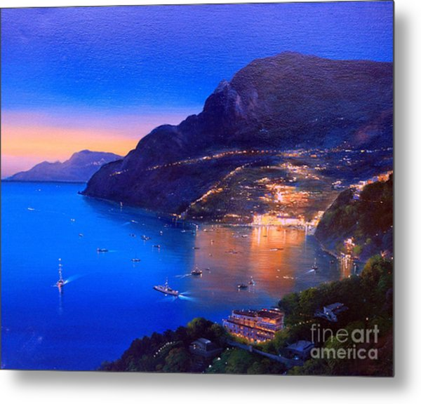Metal Print featuring the painting La Dolce Vita A Sorrento by Rosario Piazza