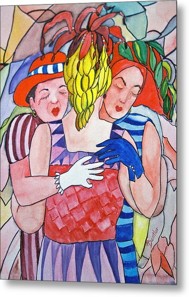 Sorrowful Sisters Metal Print by AnnE Dentler