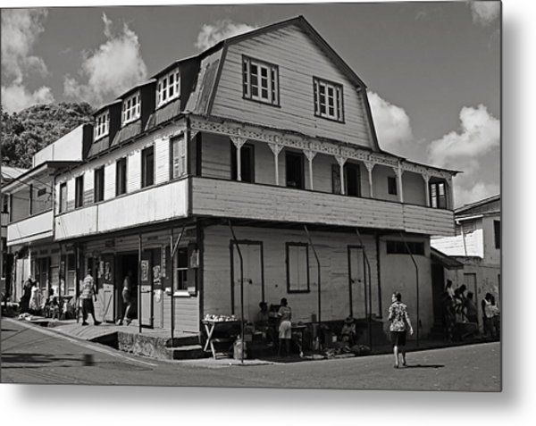 Soufriere House- St Lucia Metal Print