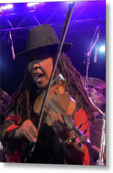 Karen Briggs - Soulchestral Groove Metal Print