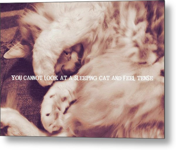 Sound Asleep Quote Metal Print by JAMART Photography