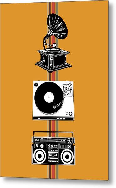 Sound Evolution 4 Metal Print