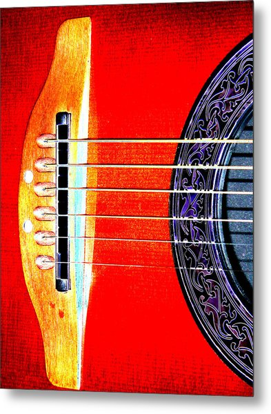 Sound Hole Metal Print by Peter  McIntosh
