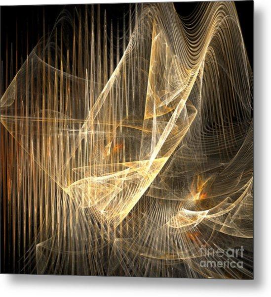Sound Waves In 3d Metal Print