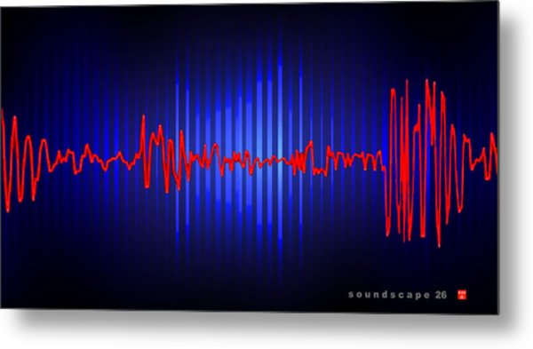 Soundscape 26 Metal Print