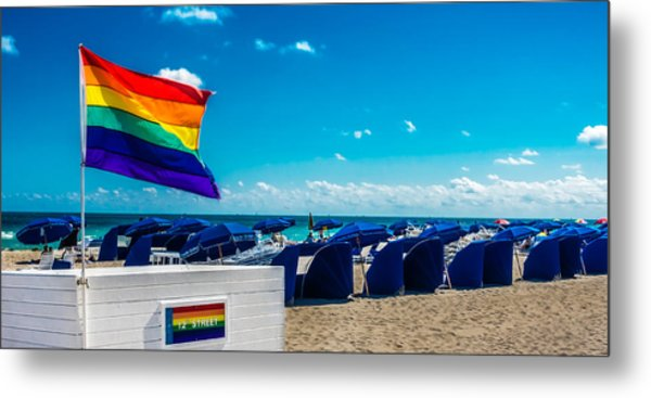 South Beach Pride Metal Print