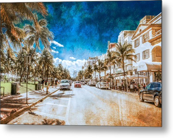 South Beach Road Metal Print