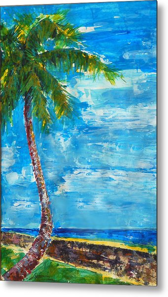Metal Print featuring the painting South Beach Wall by Thomas Lupari