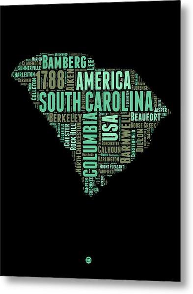 South Carolina Word Cloud 2 Metal Print