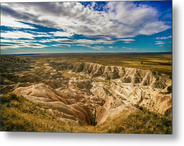 South Dakota Bad Lands.... Metal Print