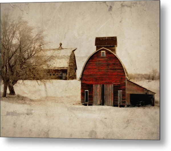 South Dakota Corn Crib Metal Print
