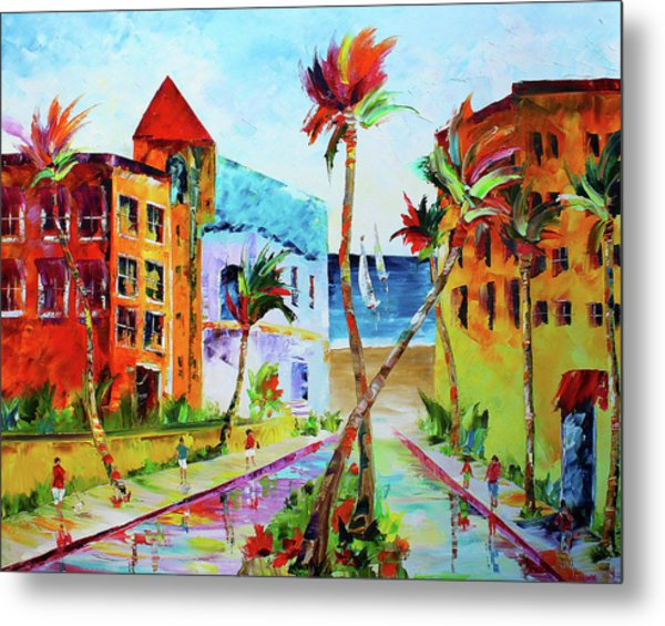 Metal Print featuring the painting South Florida by Kevin Brown