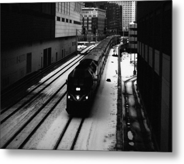 South Loop Railroad Metal Print