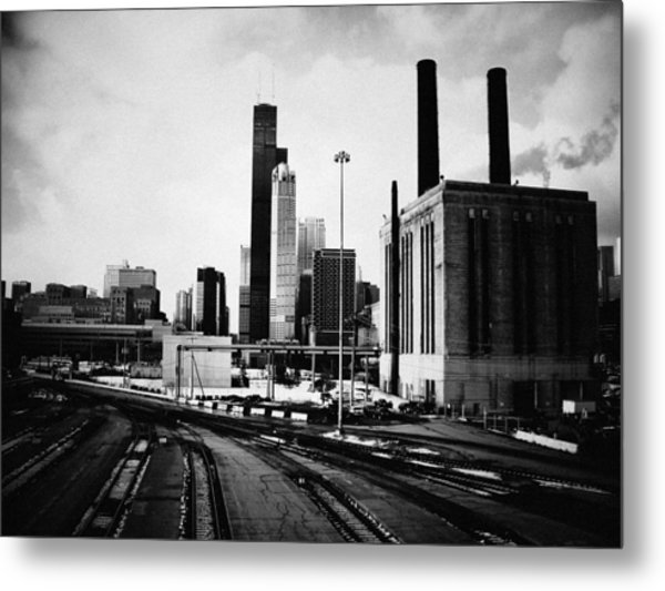 South Loop Railroad Yard Metal Print