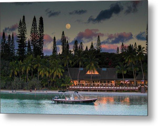 South Pacific Moonrise Metal Print