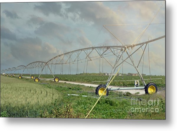 South Texas Irrigation Metal Print by Darla Rae Norwood