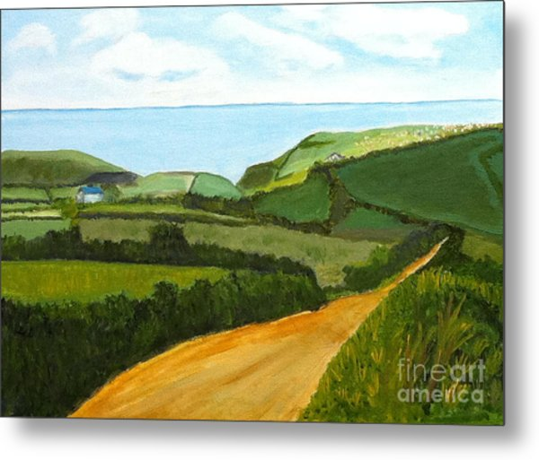 South West England Countryside Cotswold Area Metal Print