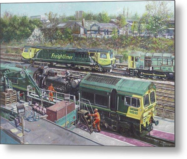 Southampton Freightliner Train Maintenance Metal Print