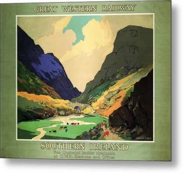 Southern Ireland - Landscape Painting - Great Western Railway - Vintage Advertising Poster Metal Print