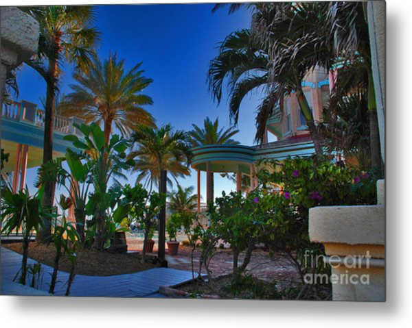 Southernmost Lush Garden In Key West Metal Print