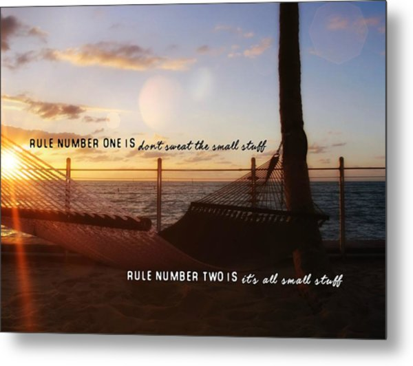 Southernmost Quote Metal Print by JAMART Photography