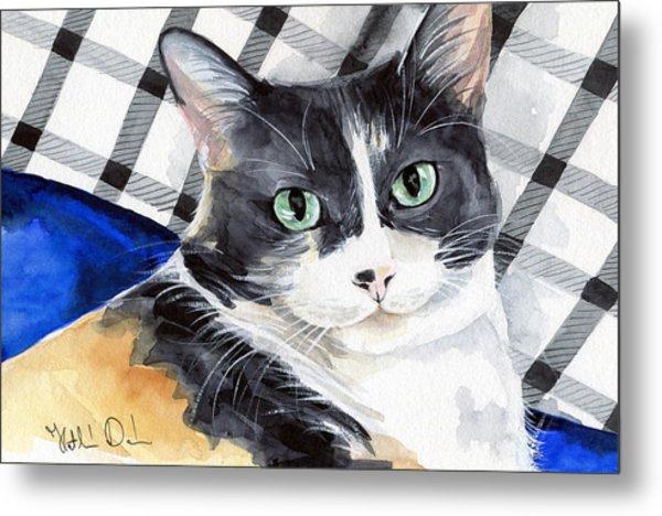 Southpaw - Calico Cat Portrait Metal Print
