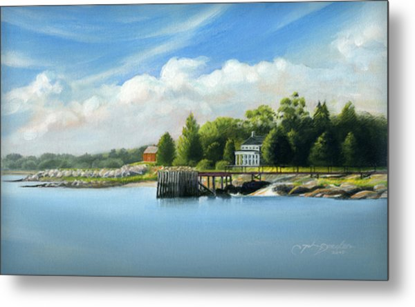 Southport Harbor Metal Print