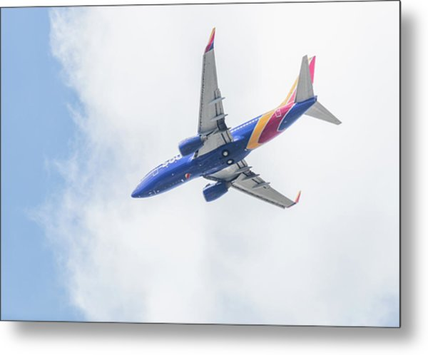 Southwest Airlines With A Heart Metal Print