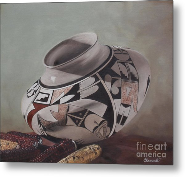 Southwest Indian Pot Metal Print