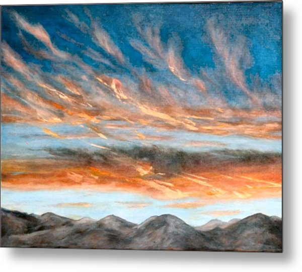 Southwest Sunset Metal Print by Merle Blair
