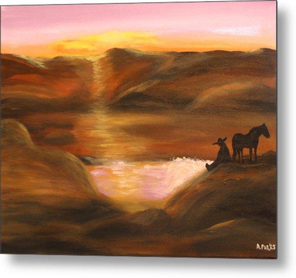 Southwestern Desert Sunset Metal Print