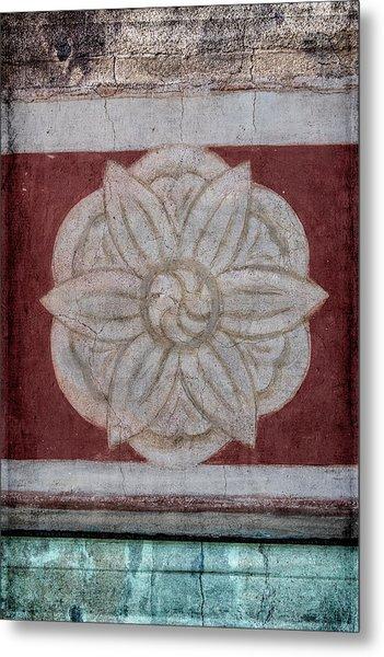 Southwestern Floral Medallion Metal Print