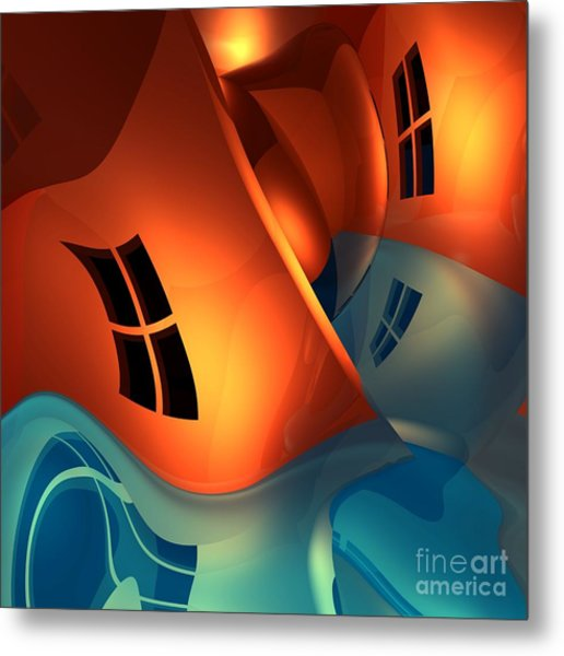 Space Curvature Metal Print