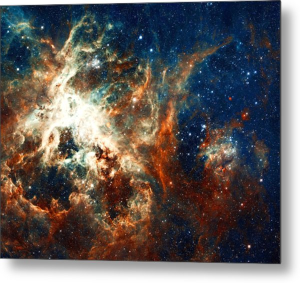 Space Fire Metal Print