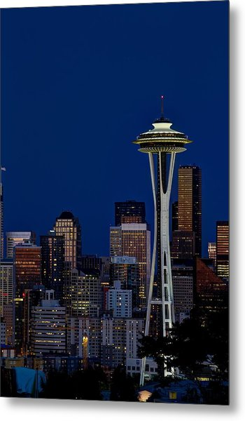 Space Needle Metal Print