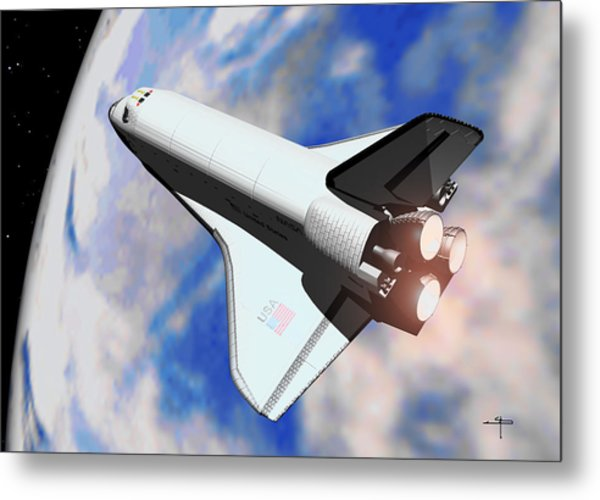 Space Shuttle Discovery Metal Print by Steven Palmer