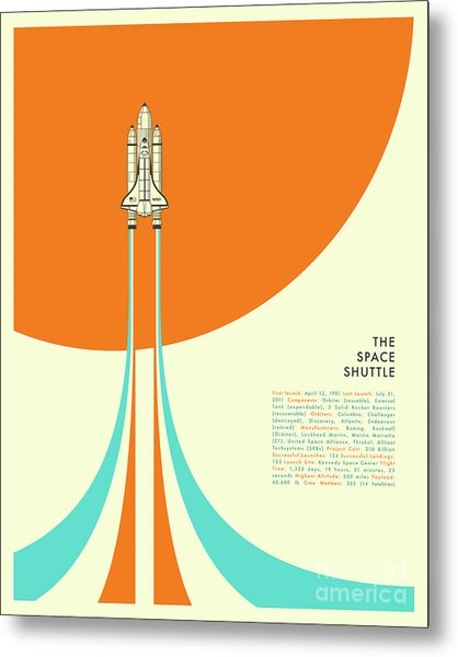 Space Shuttle  Metal Print by Jazzberry Blue