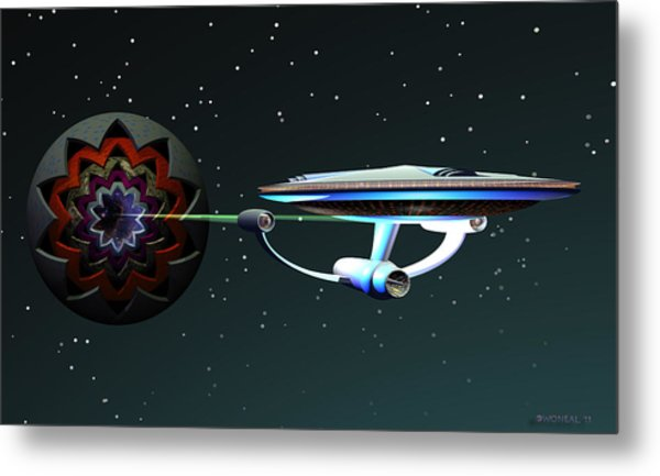 Space...the Final Frontier Metal Print by Walter Oliver Neal
