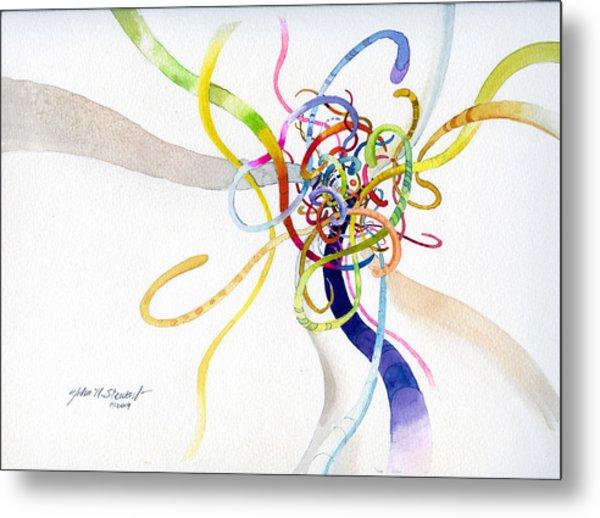 Spaghetti Abstract Metal Print by John Norman Stewart