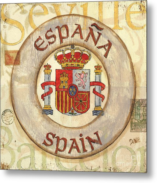 Spain Coat Of Arms Metal Print