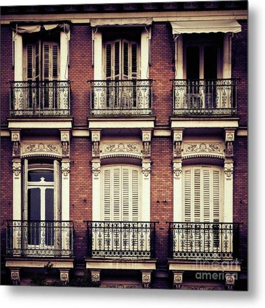 Spanish Balconies Metal Print
